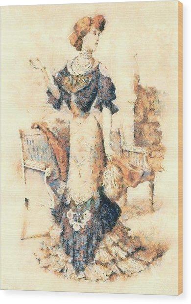 Edwardian Elegance Wood Print
