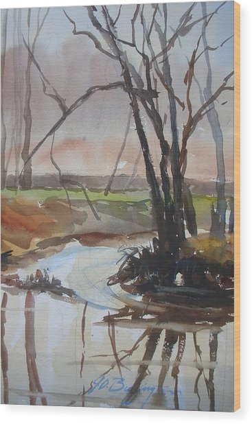 Eel River Blues Wood Print