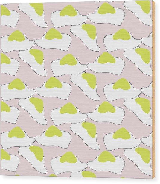 Egg Pattern Wood Print