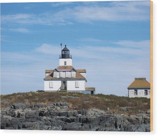 Egg Rock Lighthouse Wood Print
