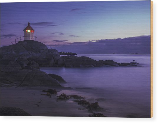 Eggum Lighthouse Wood Print