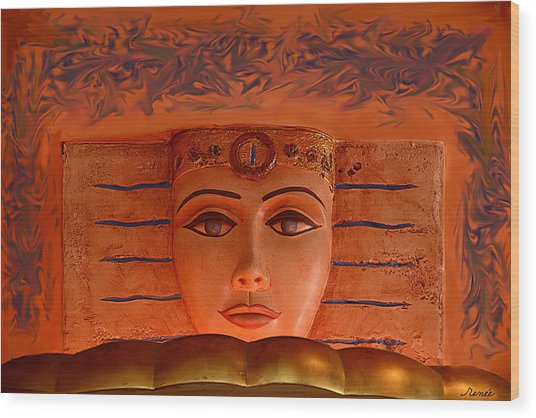 Egyptian Queen Nefertiti  Wood Print