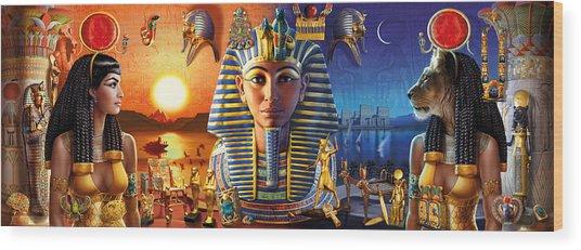 Egyptian Triptych 2 Wood Print