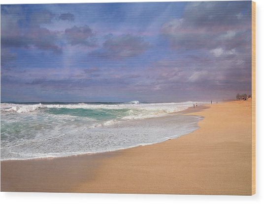 Ehukai Beach Wood Print