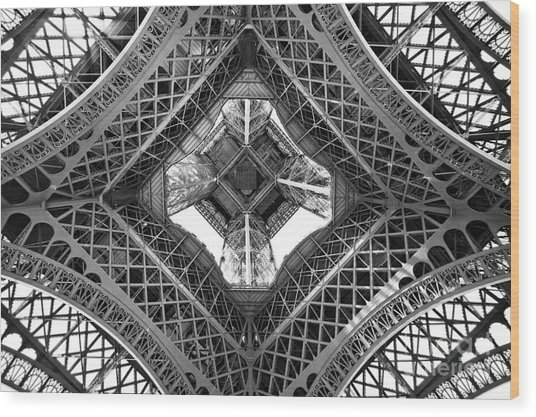 Eiffel Abstract Wood Print