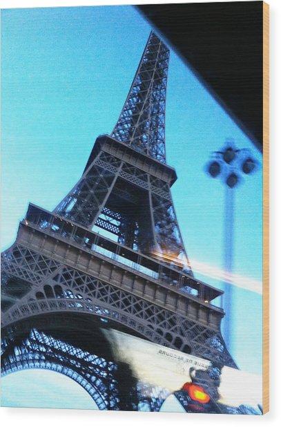 Eiffel In Motion Wood Print