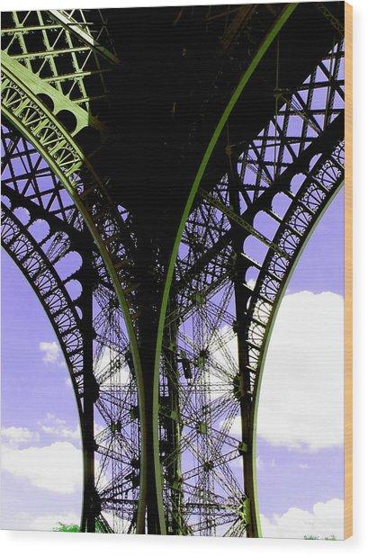 Eiffel Lace Wood Print