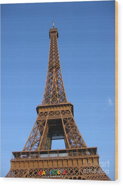 Eiffel Tower 2005 Ville Candidate Wood Print