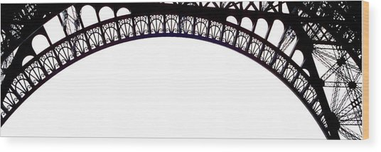 Eiffel Tower Abstract Wood Print by Mary Bedy