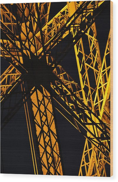 Eiffel Tower Detail Wood Print