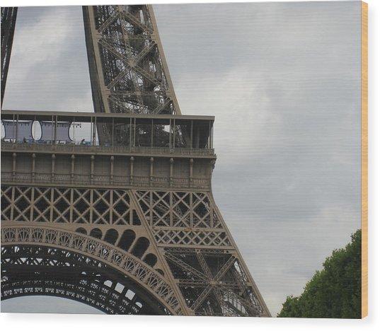 Eiffel Tower Detail Wood Print by Stephanie Hunter