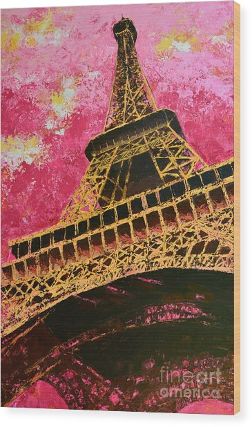 Eiffel Tower Iconic Structure Wood Print