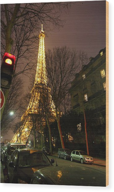 Eiffel Tower - Paris France - 011317 Wood Print by DC Photographer