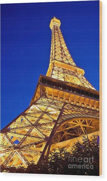 Eiffel Tower Paris Las Vegas Wood Print