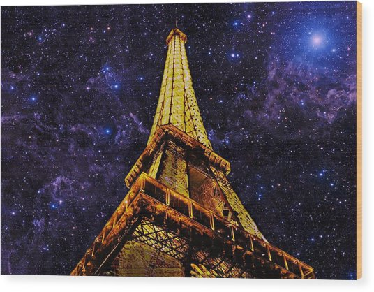 Eiffel Tower Photographic Art Wood Print