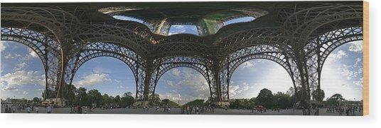 Eiffel Tower Unwrapped Wood Print by Gary Lobdell