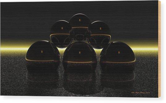 Eight Balls Wood Print