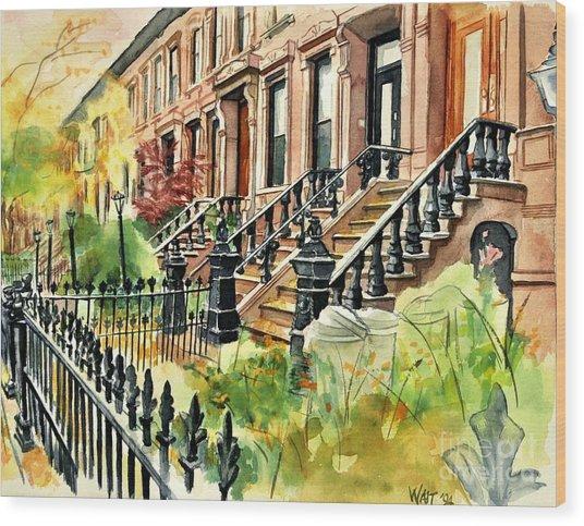 Eighth Street Wood Print