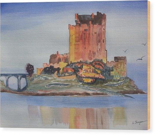 Eilean Donan Castle  Dornie Inverness Shire Scotland Wood Print by Warren Thompson
