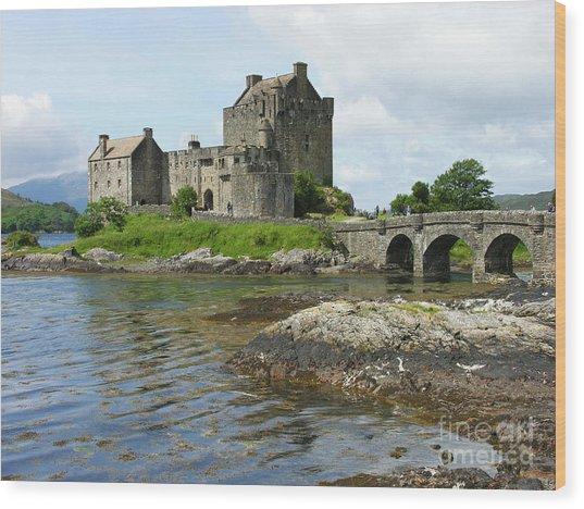 Eilean Donan Castle - Summer Wood Print