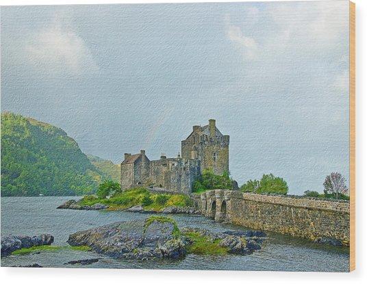 Eilean Donan Castle Textured 2 Wood Print