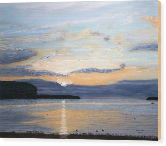 Eileen's Sunset Wood Print