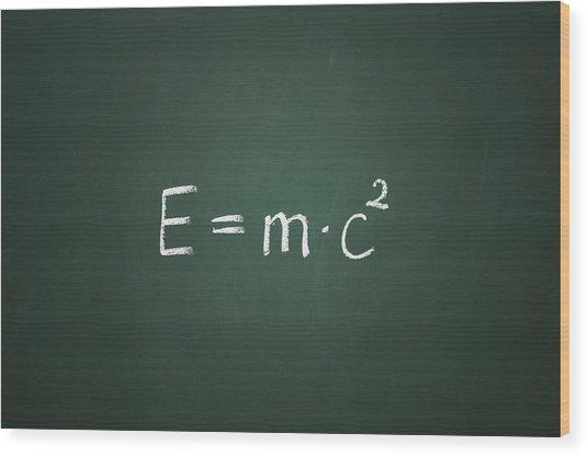 Einsteins Formula Wood Print