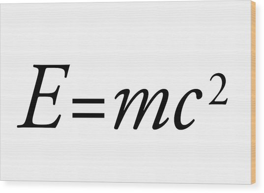 Einstein's Mass-energy Equation Wood Print by Science Photo Library