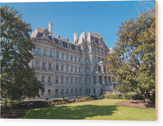 Eisenhower Executive Office Building In Washington Dc Wood Print