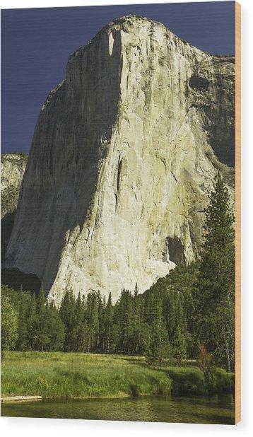 El Capitan-yosemite Series 24 Wood Print by David Allen Pierson