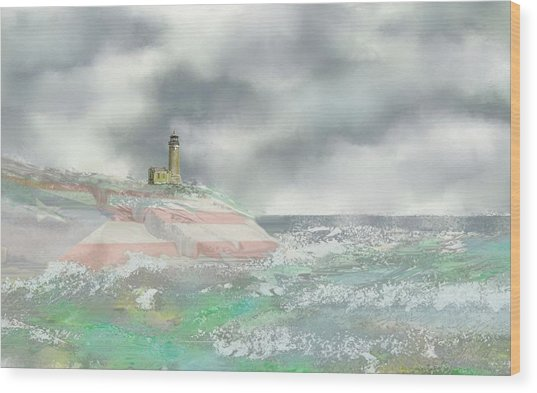 El Faro Wood Print