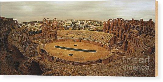 El Jem Amphitheatre Tunisia Wood Print by Amalia Suruceanu