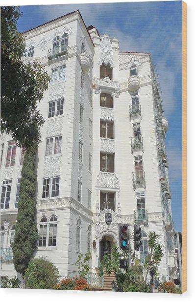 El Mirador Apartment Building Wood Print by Deborah Smolinske