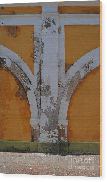 El Morro Deep Yellow Arch Wood Print