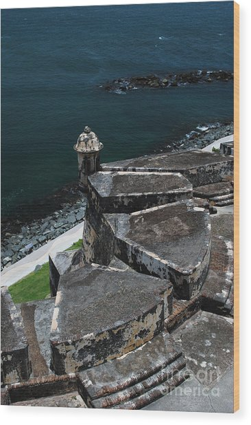 El Morro From Above Wood Print