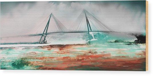 El Puente De Ayamonte Wood Print