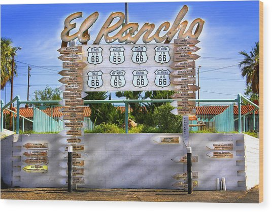 El Rancho Motel 2 - Barstow Wood Print