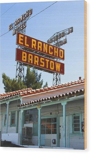 El Rancho Motel - Barstow Wood Print