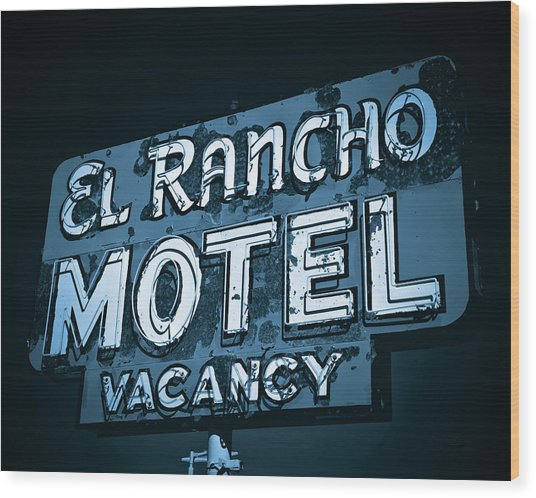Wood Print featuring the photograph El Rancho Motel by Gigi Ebert