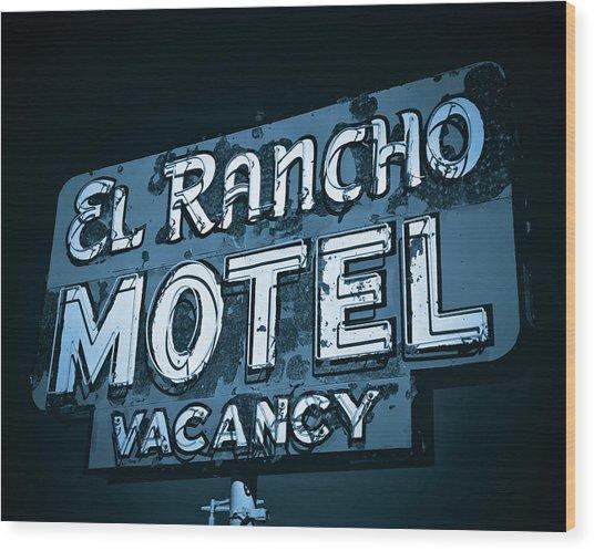 El Rancho Motel Wood Print