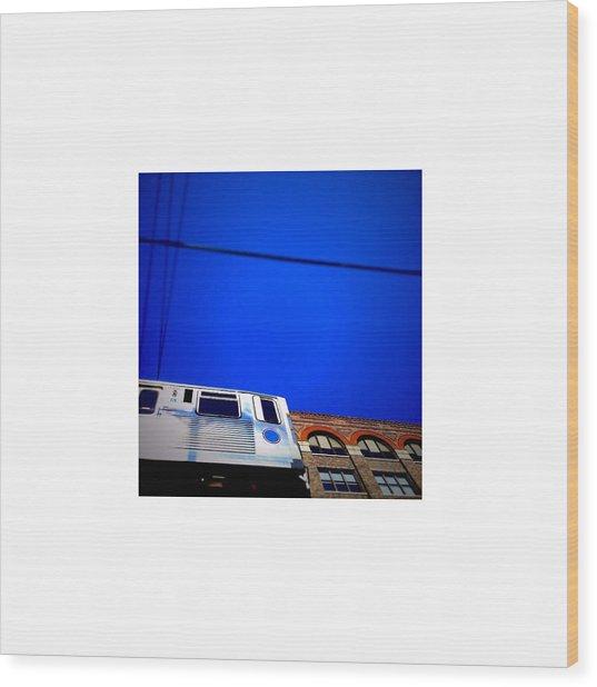 El Train_07.11.12 Wood Print by Paul Hasara