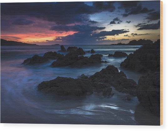 El Villar Beach Galicia Spain Wood Print