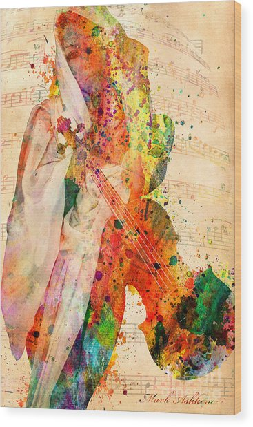 El Violin  Wood Print