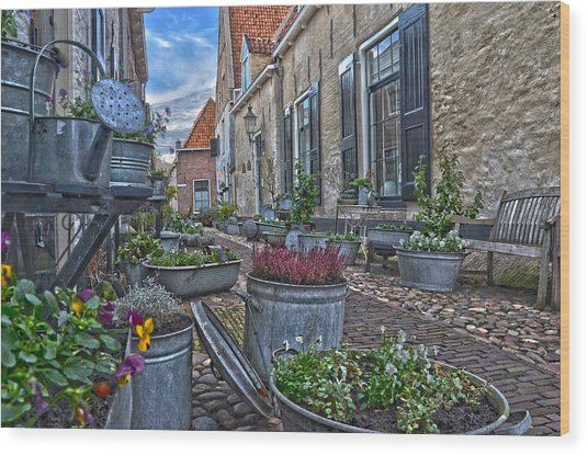 Elburg Alley Wood Print