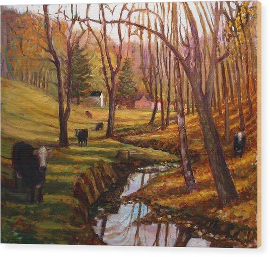 Elby's Cows Wood Print