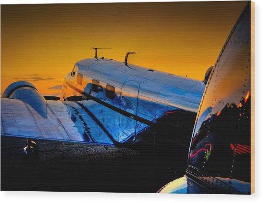 Electra Sunset Wood Print