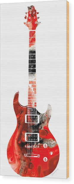 Electric Guitar - Buy Colorful Abstract Musical Instrument Wood Print