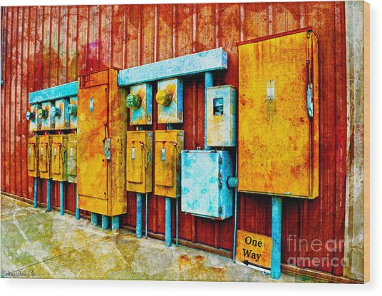 Electrical Boxes Iv Wood Print