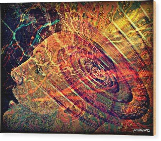 Electromagnetic Waves Wood Print