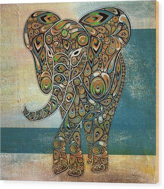 Elefantos - 01ac03at03b Wood Print